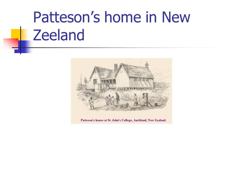 Patteson's home in New Zeeland