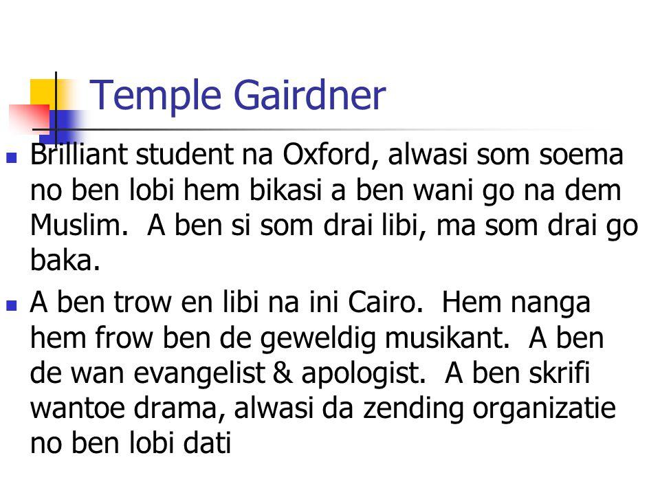 Temple Gairdner