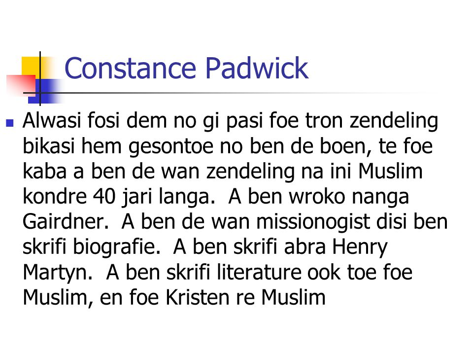 Constance Padwick