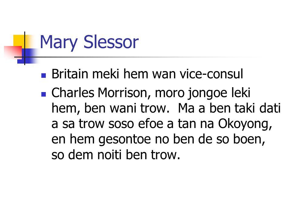 Mary Slessor Britain meki hem wan vice-consul
