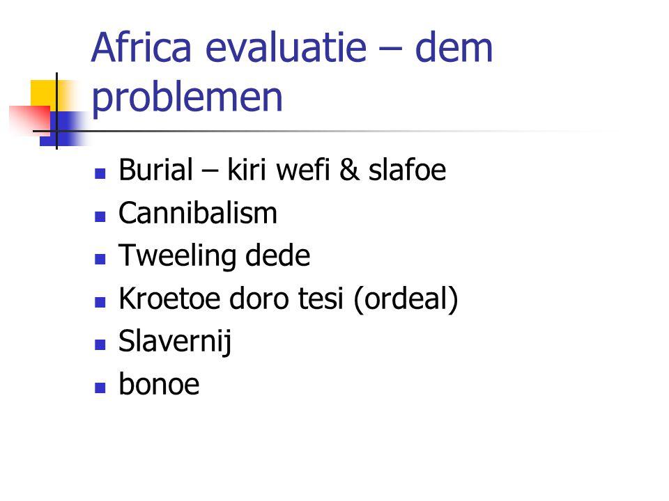 Africa evaluatie – dem problemen