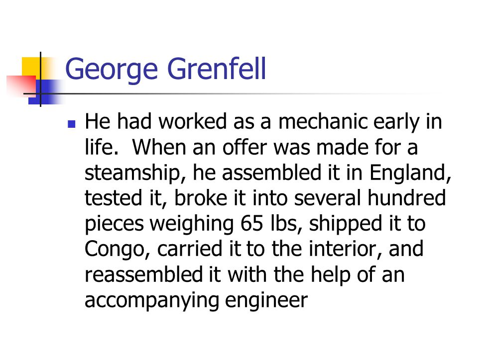 George Grenfell