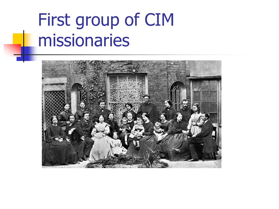 First group of CIM missionaries