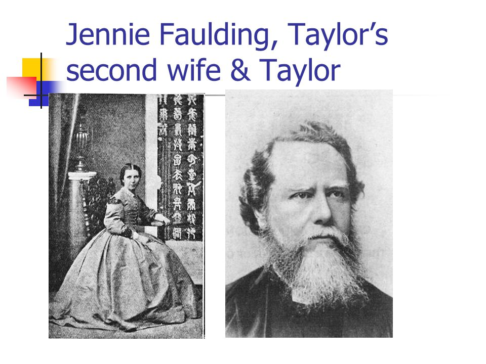 Jennie Faulding, Taylor's second wife & Taylor