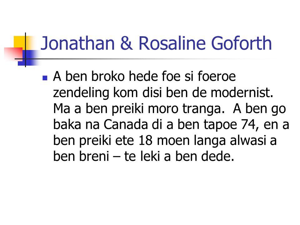 Jonathan & Rosaline Goforth