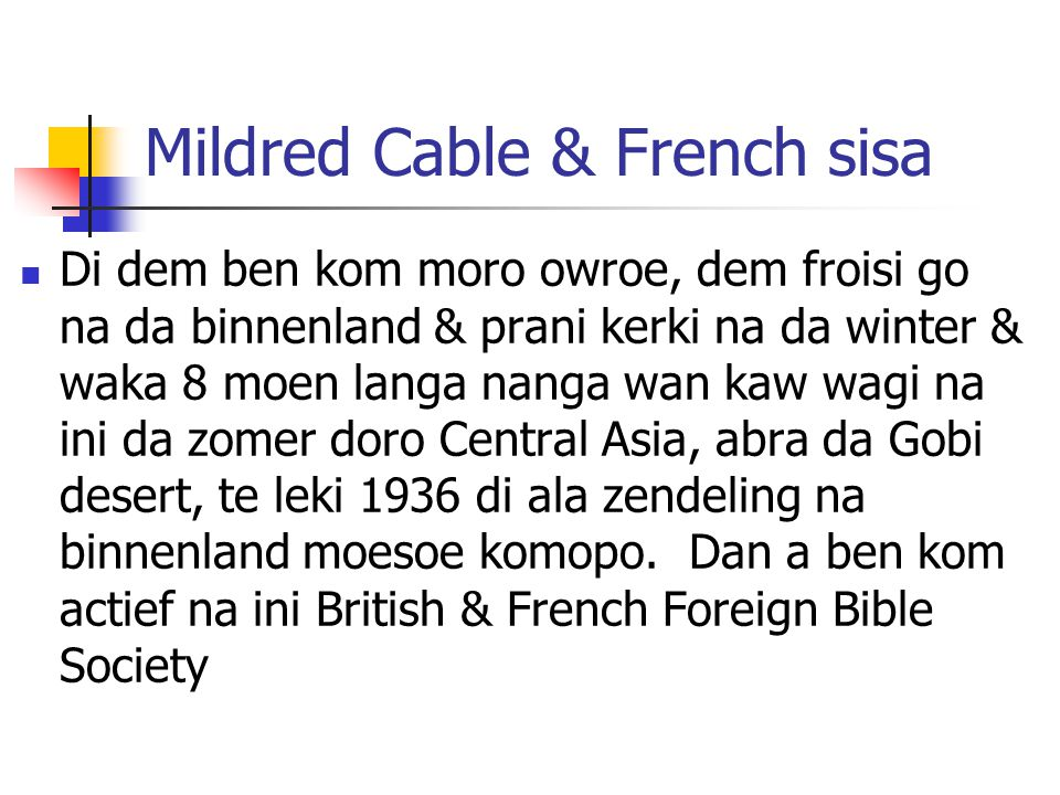 Mildred Cable & French sisa