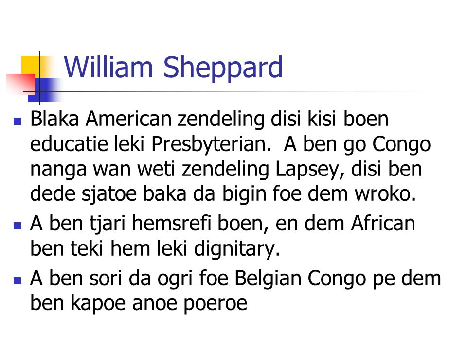 William Sheppard