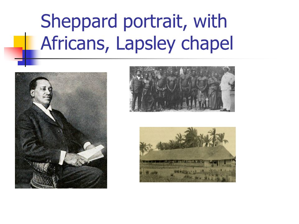 Sheppard portrait, with Africans, Lapsley chapel