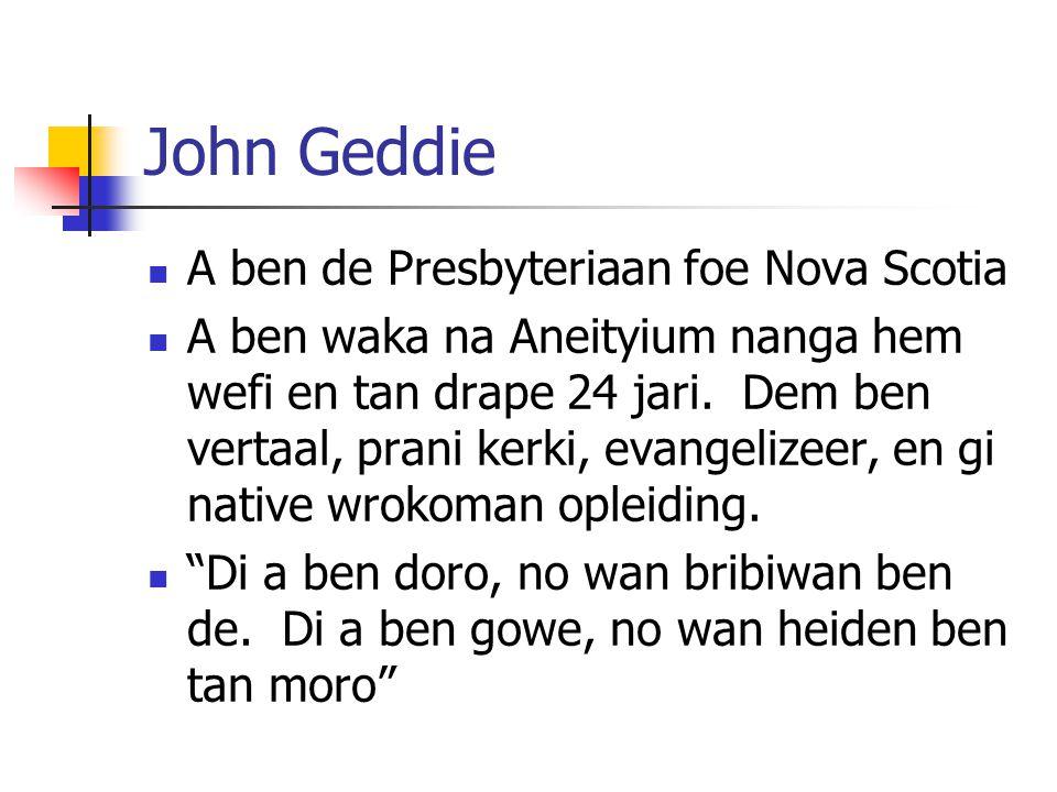 John Geddie A ben de Presbyteriaan foe Nova Scotia