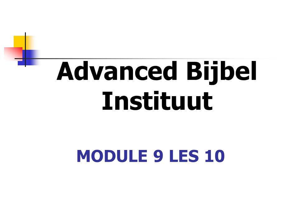 Advanced Bijbel Instituut