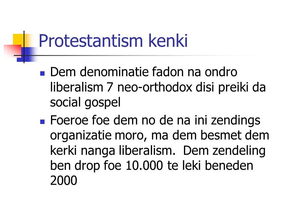 Protestantism kenki Dem denominatie fadon na ondro liberalism 7 neo-orthodox disi preiki da social gospel.
