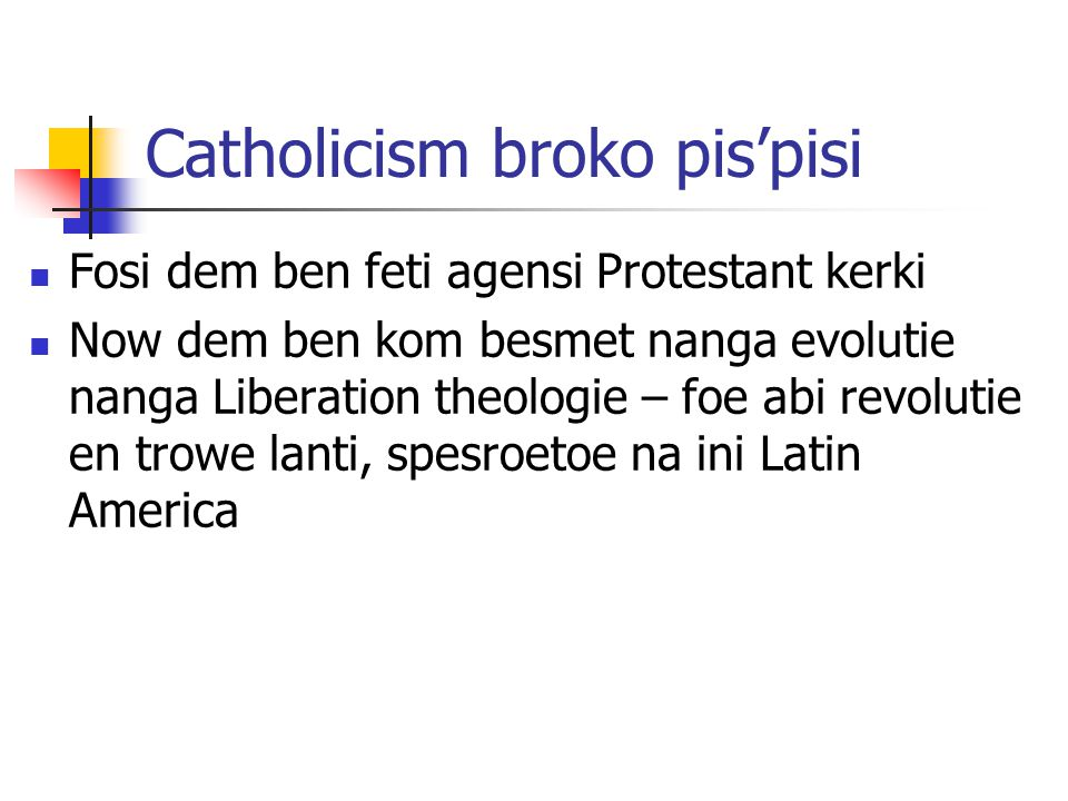Catholicism broko pis'pisi