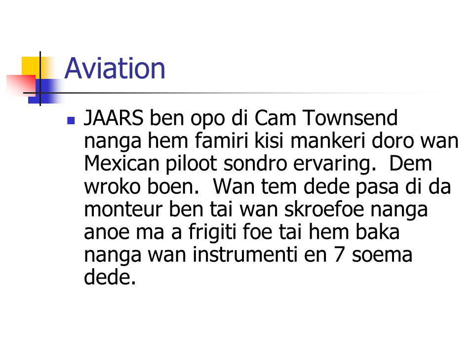 Module 9 Lesson 10 Aviation.