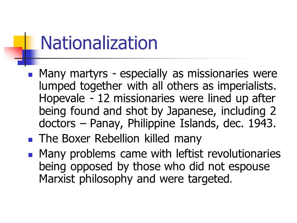 Module 9 Lesson 10 Nationalization.