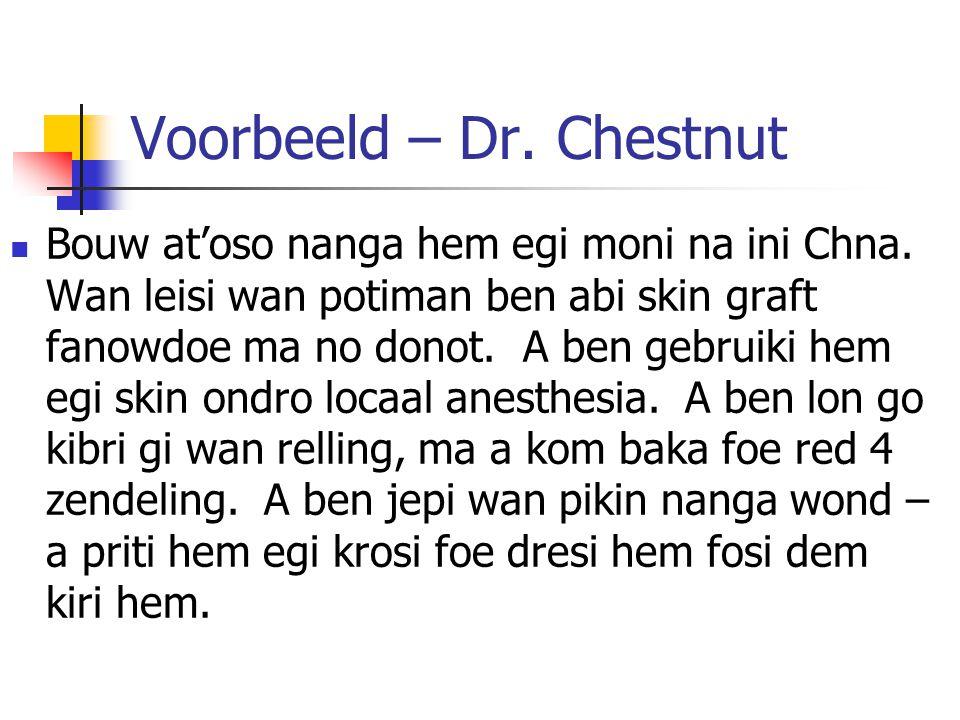 Voorbeeld – Dr. Chestnut