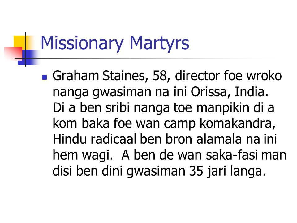 Missionary Martyrs