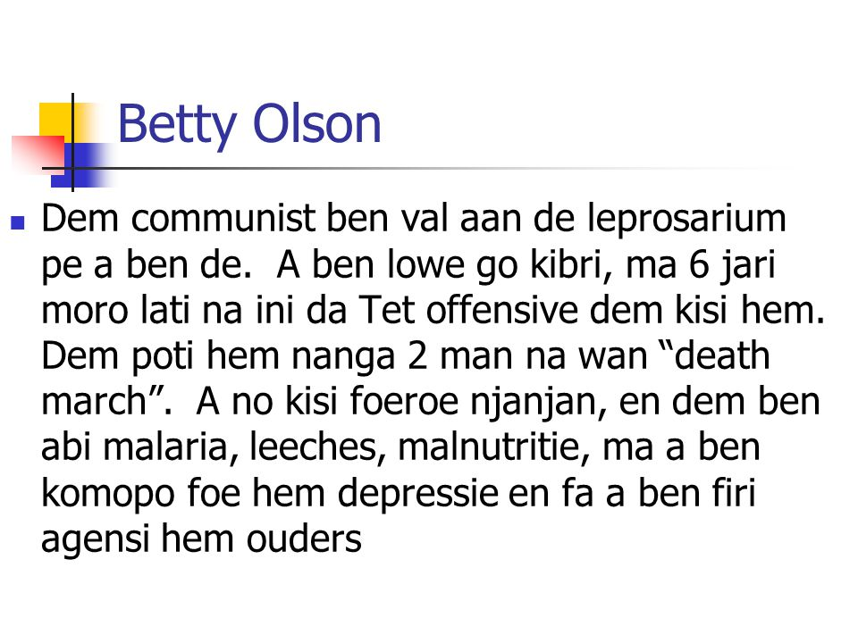 Betty Olson