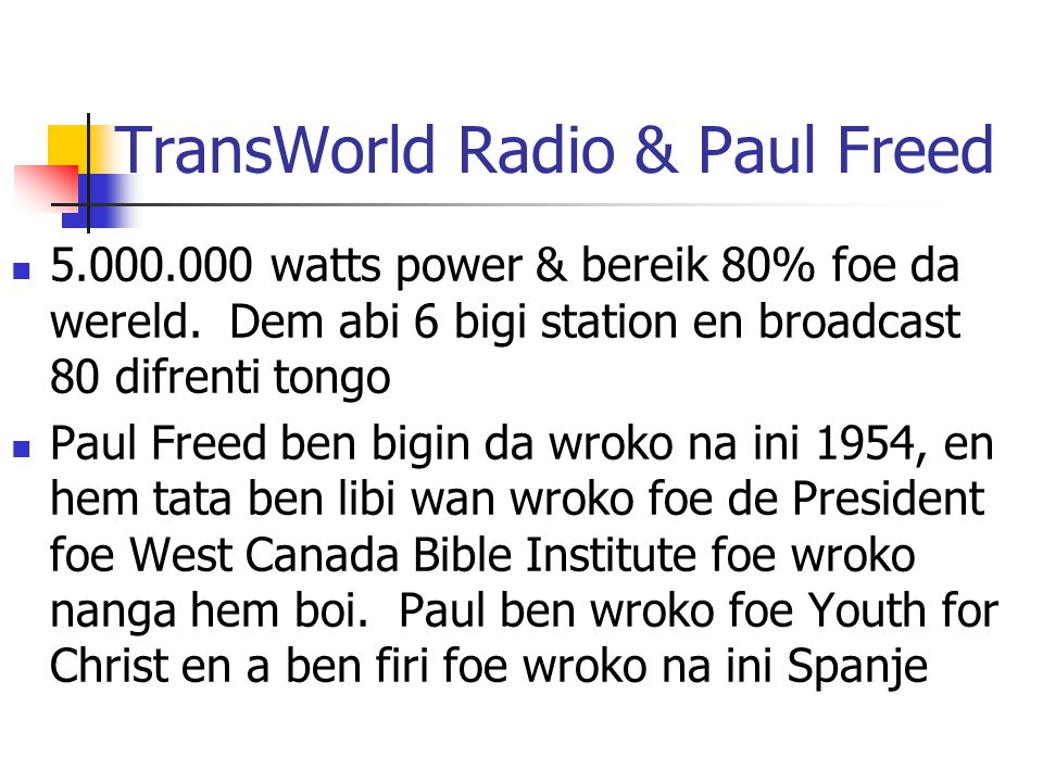 TransWorld Radio & Paul Freed