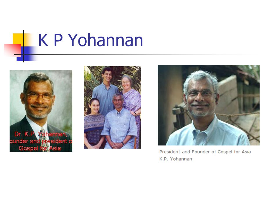 K P Yohannan