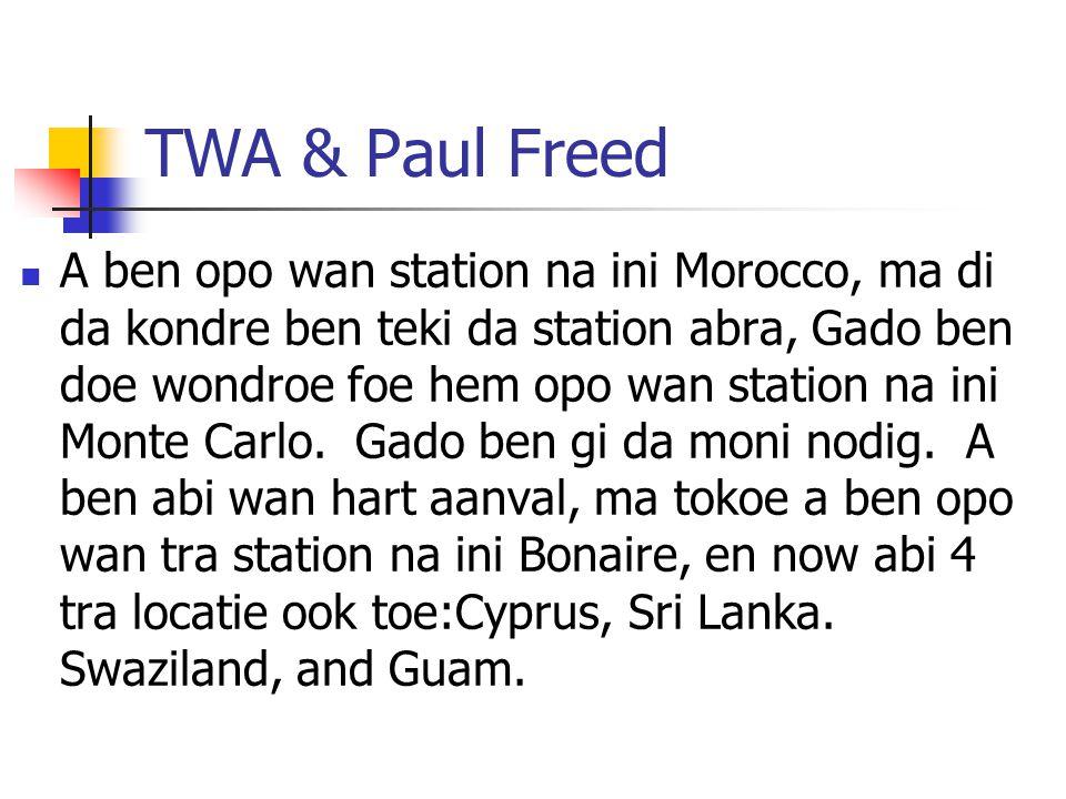 TWA & Paul Freed