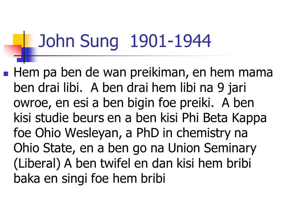 John Sung 1901-1944