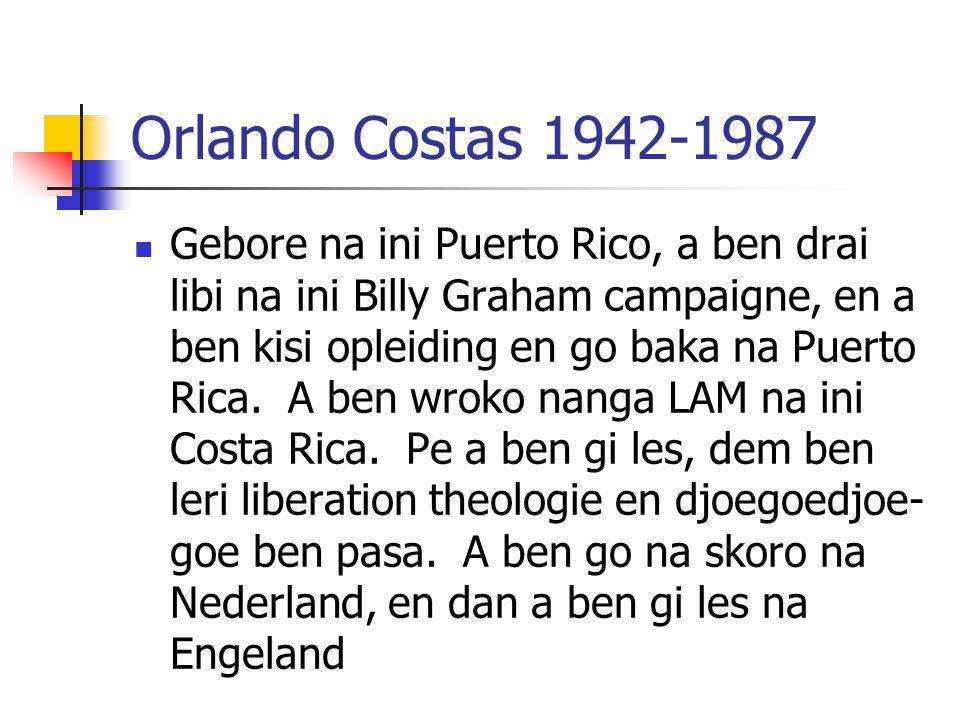 Orlando Costas 1942-1987