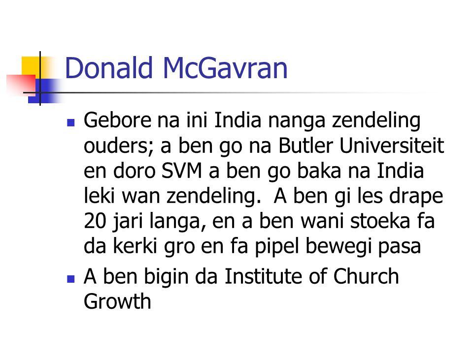 Donald McGavran
