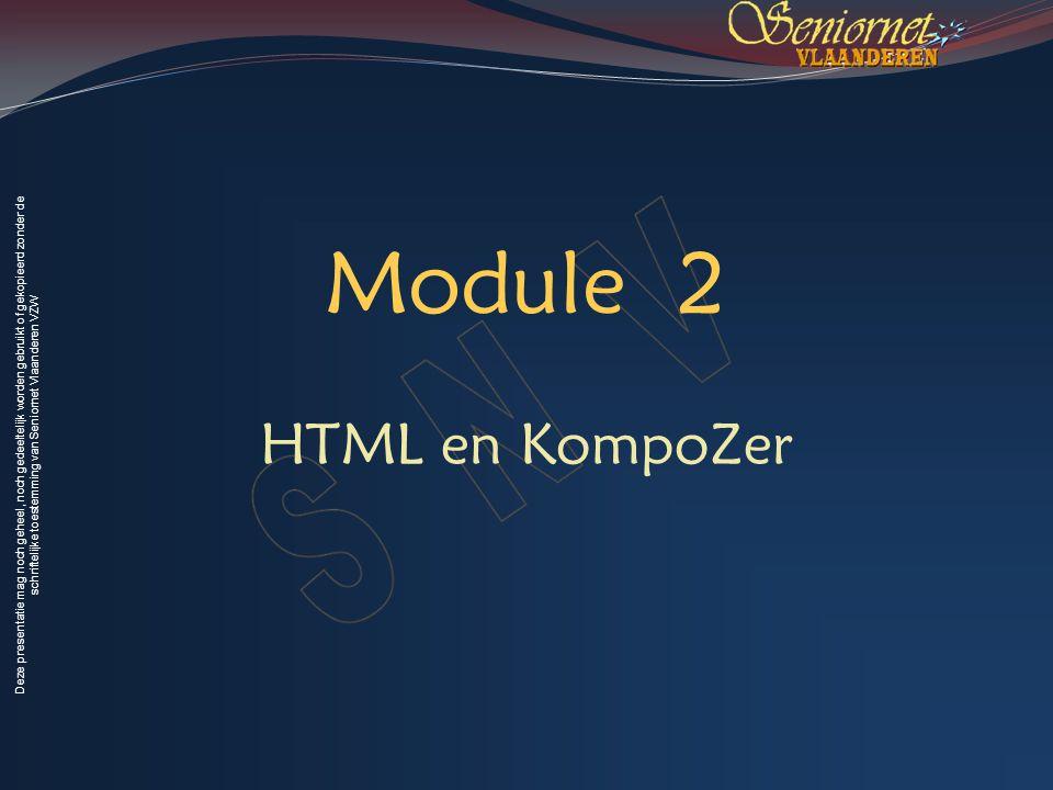 Module 2 HTML en KompoZer