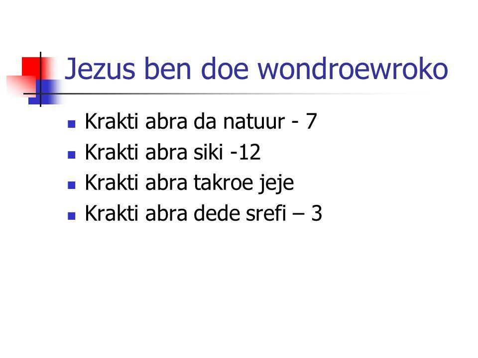 Jezus ben doe wondroewroko