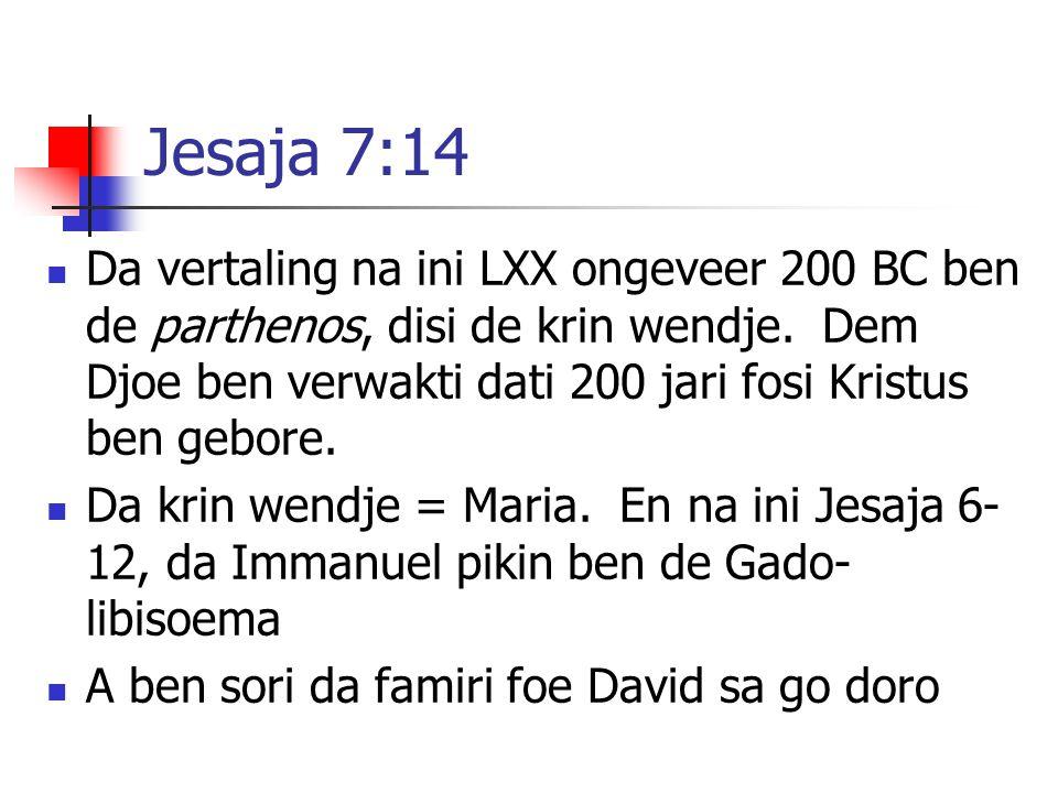 Jesaja 7:14