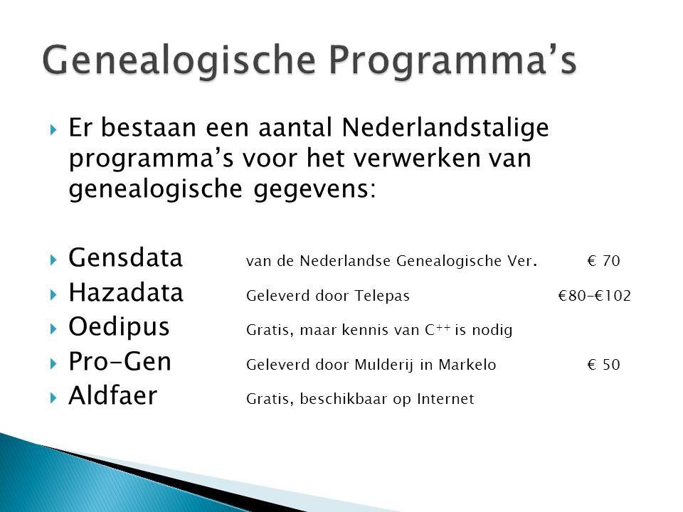 Genealogische Programma's