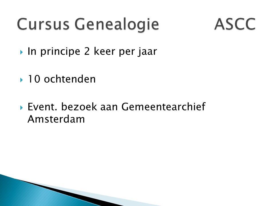 Cursus Genealogie ASCC