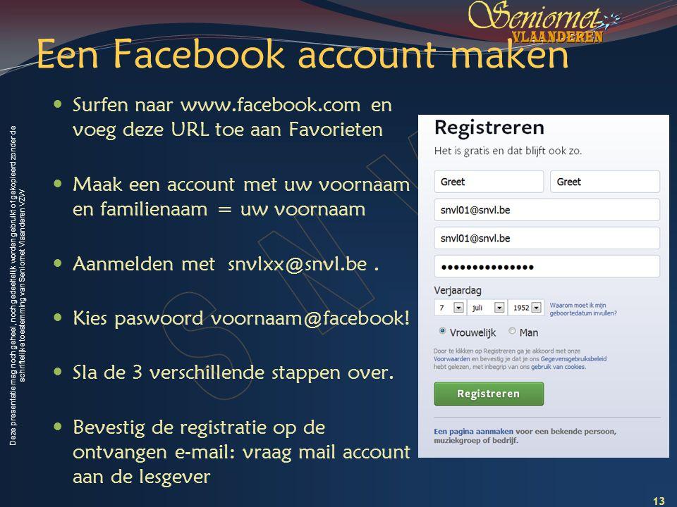 Een Facebook account maken
