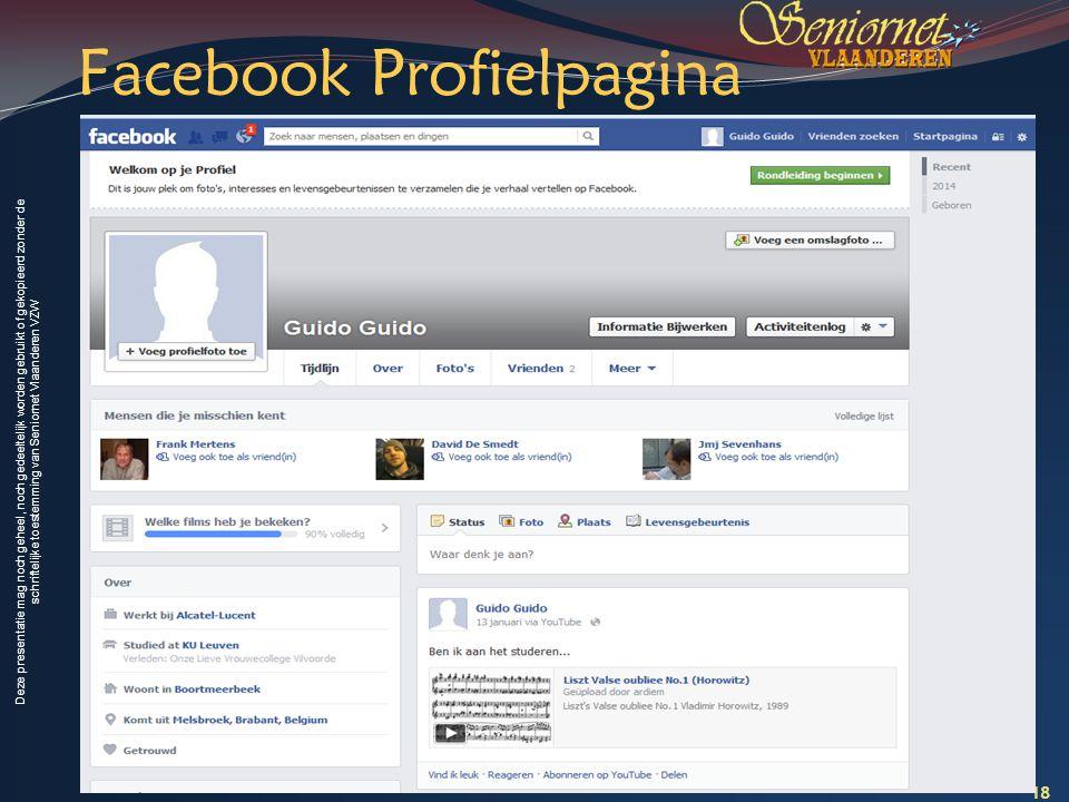 Facebook Profielpagina