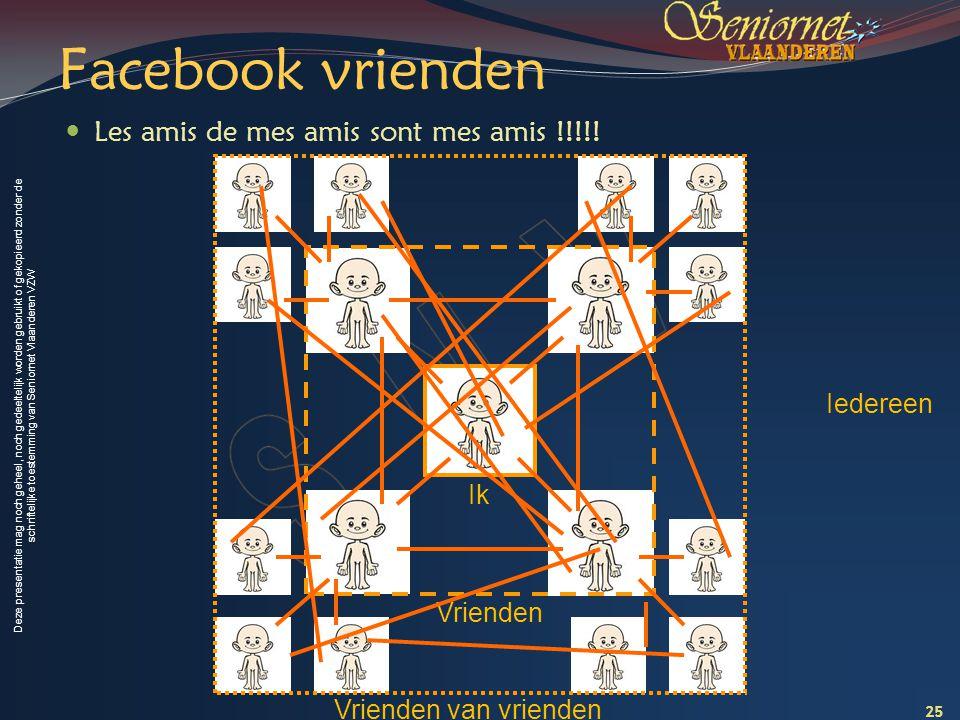 Facebook vrienden Les amis de mes amis sont mes amis !!!!! Iedereen Ik
