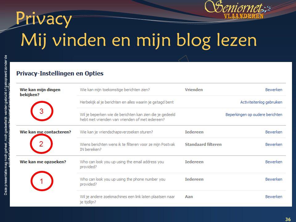 Privacy Mij vinden en mijn blog lezen