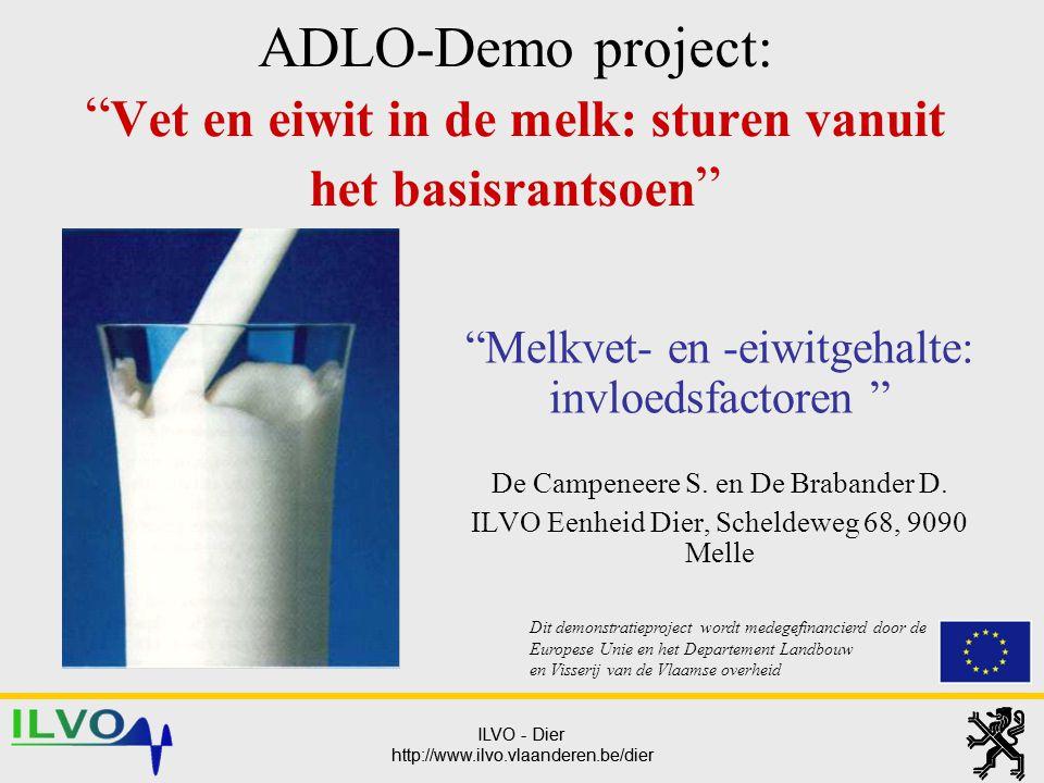 ADLO-Demo project: Vet en eiwit in de melk: sturen vanuit het basisrantsoen