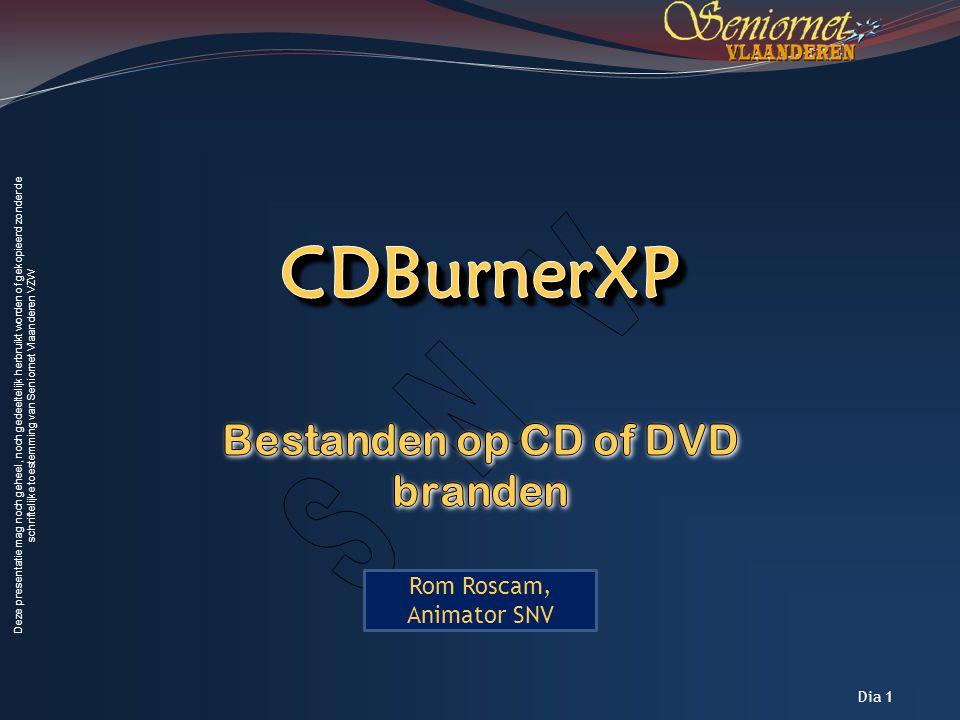 E-mail via Picasa Bestanden op CD of DVD branden