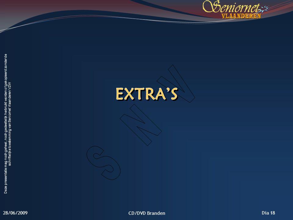 Extra's 28/06/2009 CD/DVD Branden