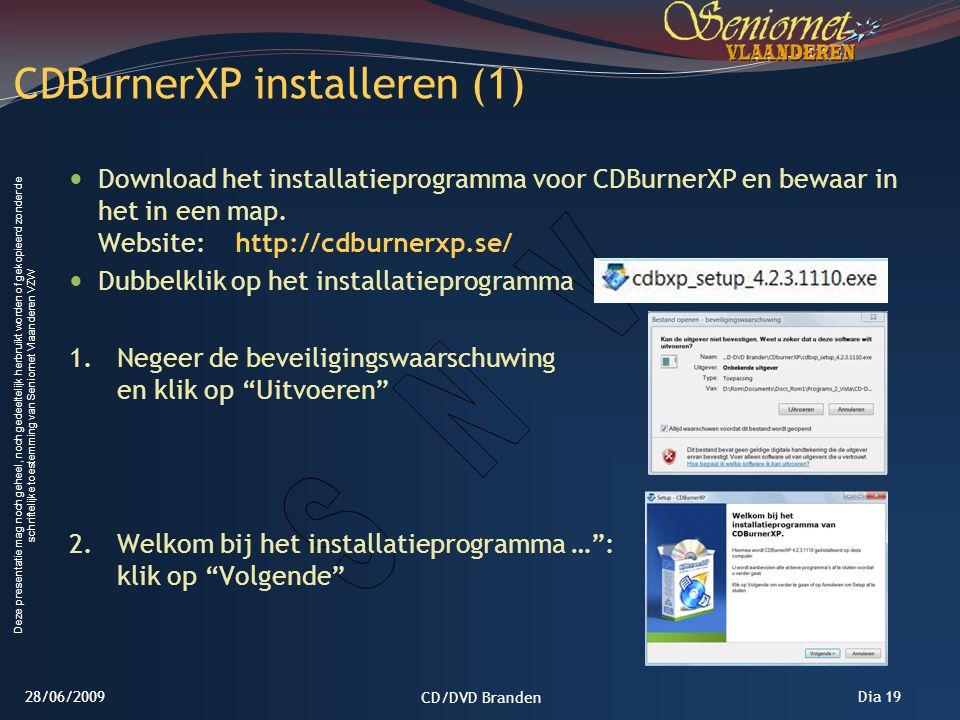 CDBurnerXP installeren (1)