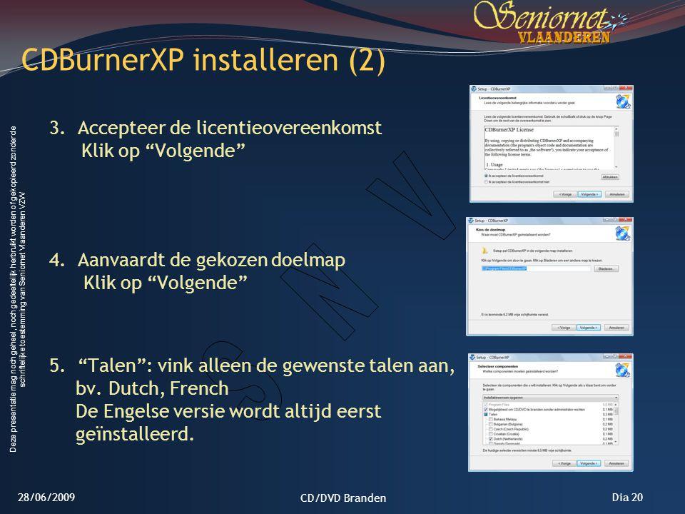 CDBurnerXP installeren (2)