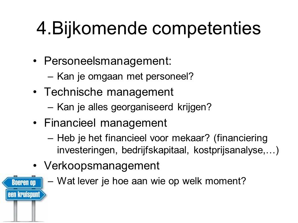 4.Bijkomende competenties