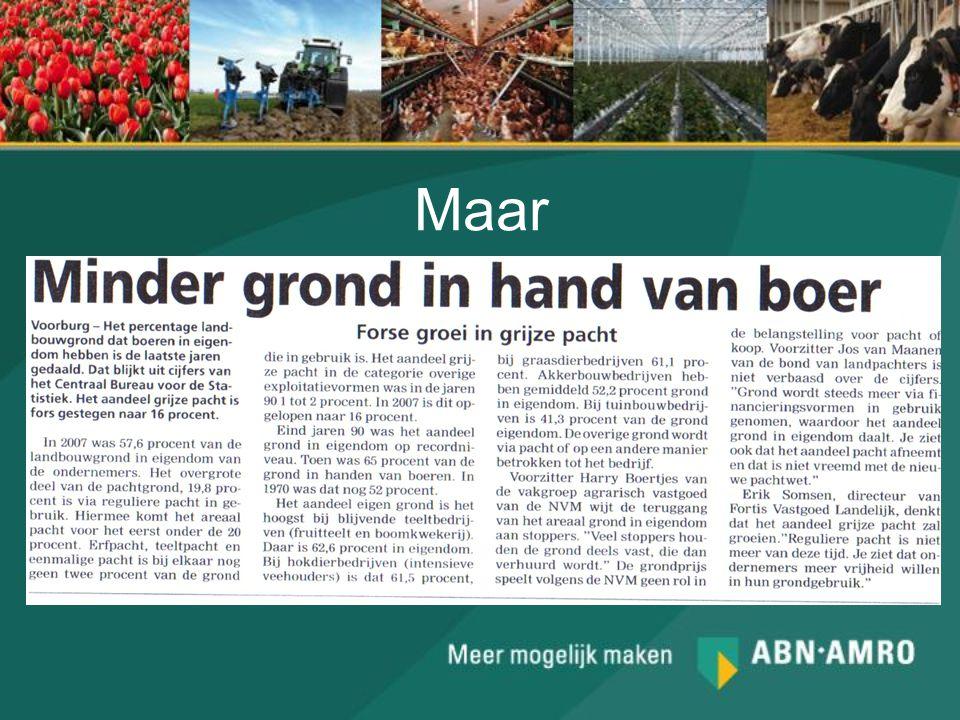 Maar Minder grond in handen van boer