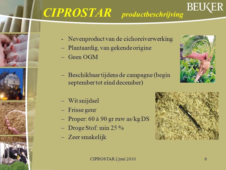 CIPROSTAR productbeschrijving