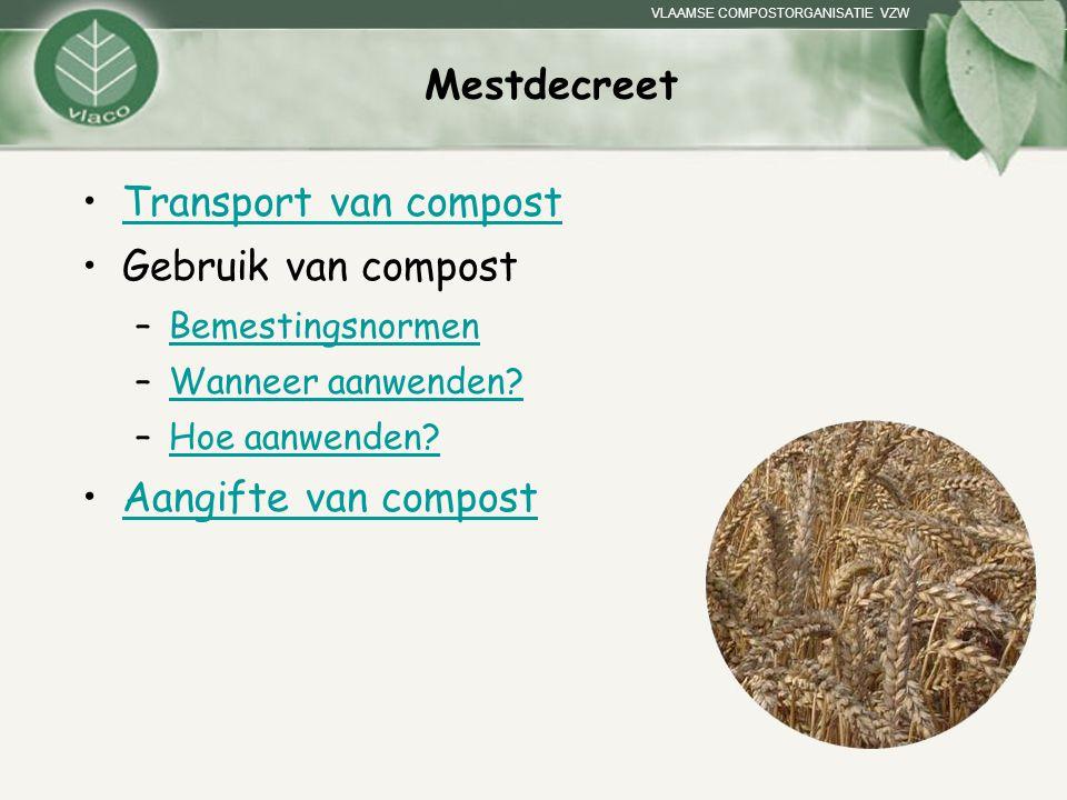 Mestdecreet Transport van compost Gebruik van compost