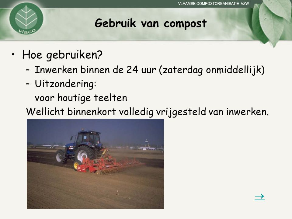 Gebruik van compost Hoe gebruiken