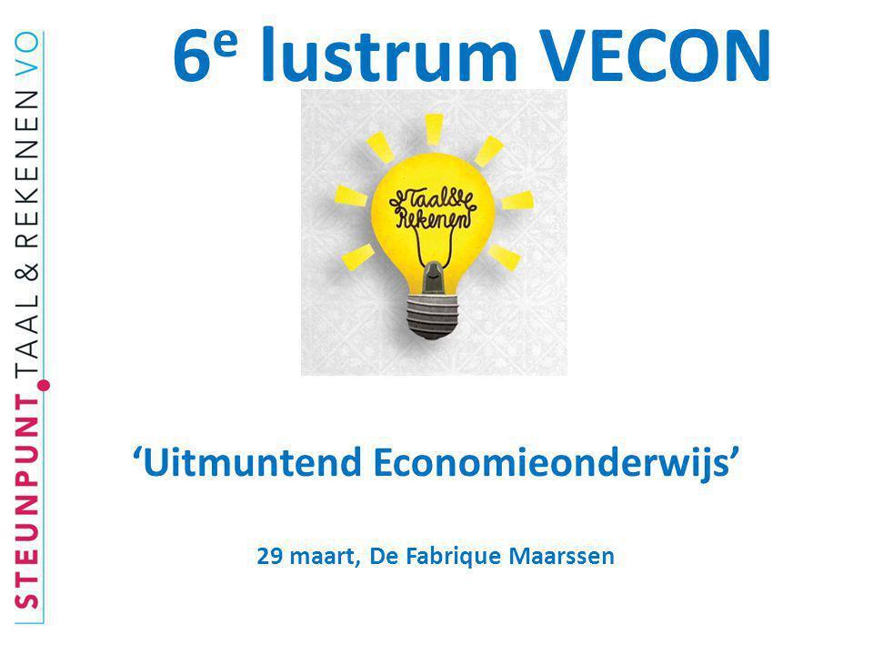 'Uitmuntend Economieonderwijs' 29 maart, De Fabrique Maarssen
