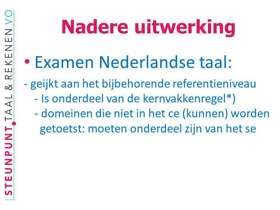 Examen Nederlandse taal: