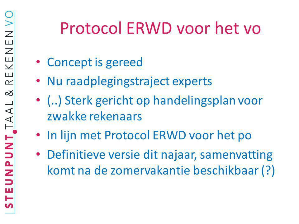 Protocol ERWD voor het vo