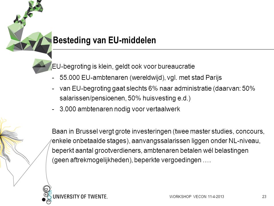 Besteding van EU-middelen